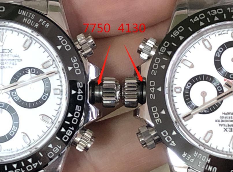 N厂迪通拿4130机芯对比7750机芯